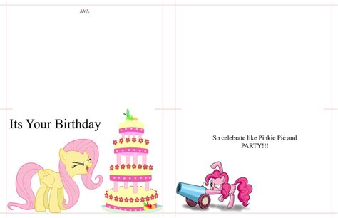 my little pony printable thank you cards my little pony birthday card by moonprincessluna