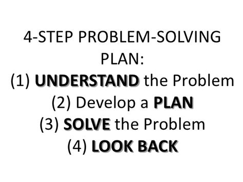 4 steps to solving your problem the only troubleshooting resource you will need books sec 1 7 4 step problem solving plan
