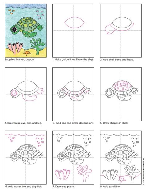 how to draw a house for kids step by step drawing how to draw a cute sea turtle step by step archives
