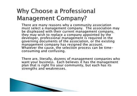 Termination Letter For Hoa Management Company Selecting An Hoa Management Company