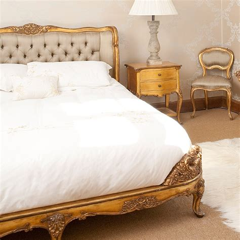 gold bed versailles gold upholstered bed french bedroom company