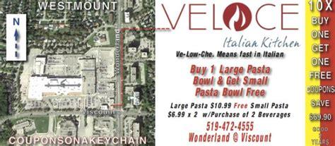 Italian Kitchen Printable Coupon by Veloce Italian Kitchen Coupons Ontario