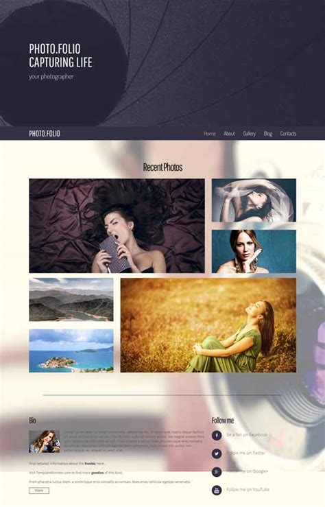 50 Best Photography Website Templates Free Premium Freshdesignweb Best Website Templates For Photographers