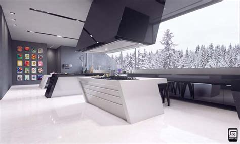Living Room Home Decor Ideas Futuristic Kitchen Design By M1tos