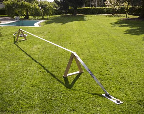 backyard slackline without trees image gallery slackline anchor