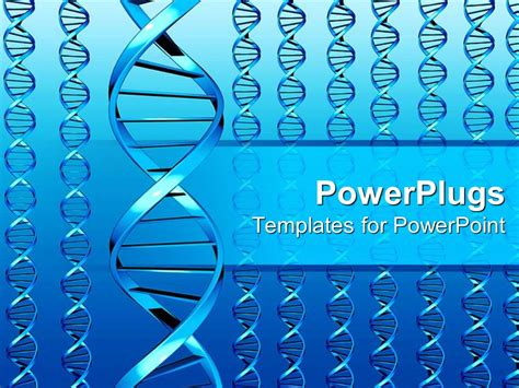 Powerpoint Template Different Sets Of Dna Colored In Beautiful Blue Color 9696 Dna Powerpoint Template