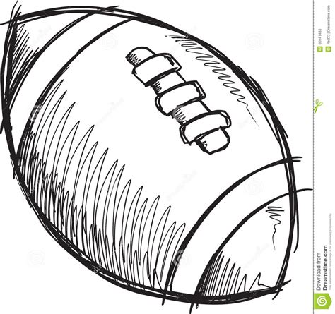 doodle football football vector vector illustration cartoondealer