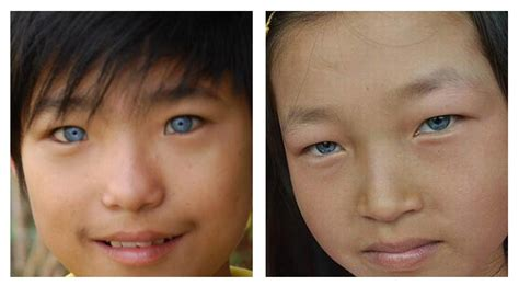 asian eye color how asians with blue green