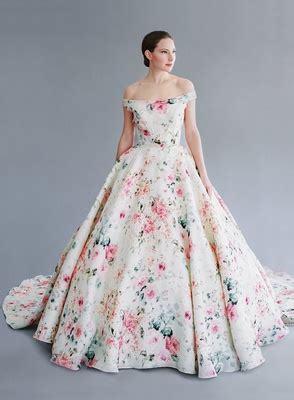 flower pattern wedding dress wedding dresses bridal gowns with flower prints from
