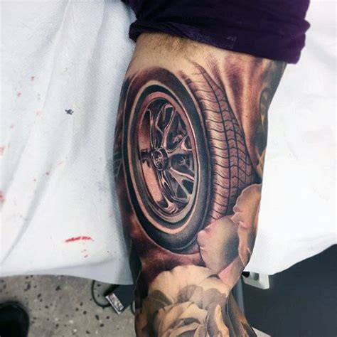 tire tattoo 40 mustang designs for sports car ink ideas