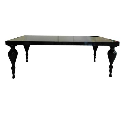 Black Dinner Table by Dining Table High Gloss Black Isabelina