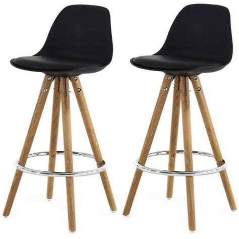 Tabouret De Bar by Lot De 2 Tabourets De Bar Scandinaves Noir Uma Achat