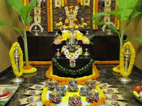 pooja decorations at home pooja room decoration for ganpati indian festivals
