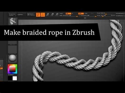 zbrush rope tutorial zbrush tutorial how to create braided rope all cg