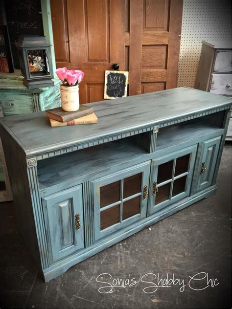 chalk paint distressing diy shabby distressed tv stand always new painting tips new