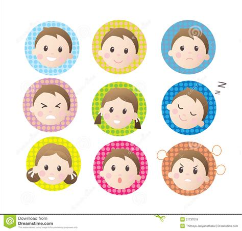 children emotion stock illustration illustration  asian