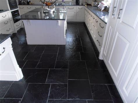 Kitchen With Black Slate Floor by Tired Black Slate Tiled Floor In Sevenoaks Restored Kent