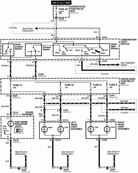 2000 Honda Civic Headlight Wiring Diagram Wiring Diagram