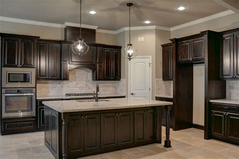 Black Walnut Stained Knotty Alder Cabinets Kitchens Black Stained Kitchen Cabinets