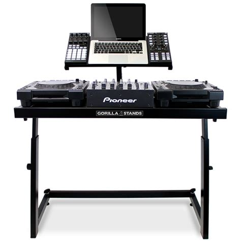 dj stand table gorilla ds 1 dj deck stand cdj turntable mixer laptop dj