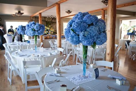 blue themed centerpieces sky blue wedding centrepiece wedding flowers wedding table