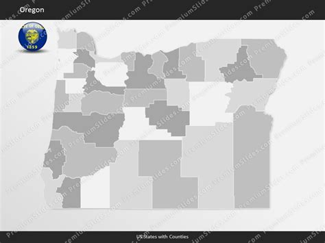 oregon state powerpoint template us state oregon county map template for microsoft