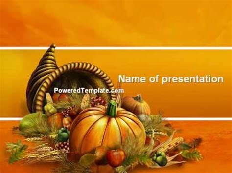 Free Thanksgiving Day Powerpoint Template By Poweredtemplate Com Youtube Thanksgiving Powerpoint Templates