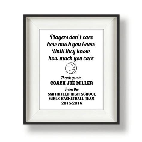 thank you letter for team gift coach gifts thank you coach coach quotes by bucketlistshop
