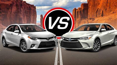 Toyota Camry Le Vs Se 2017 Toyota Camry Vs Corolla