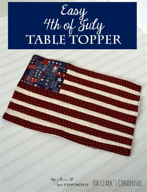 4th of july table easy 4th of july table topper