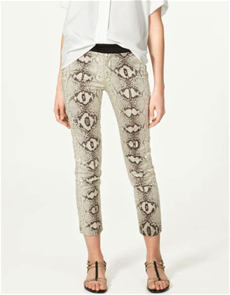 zara snake print trousers in snake print trousers trousers collection zara russian federation