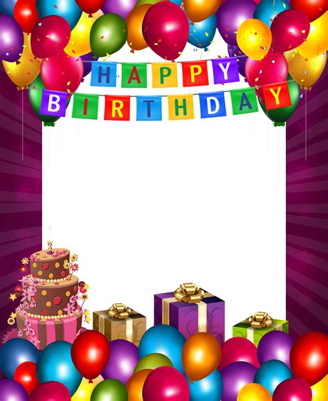 Frame 6r Happy Birthday happy birthday with balloons transparent png frame