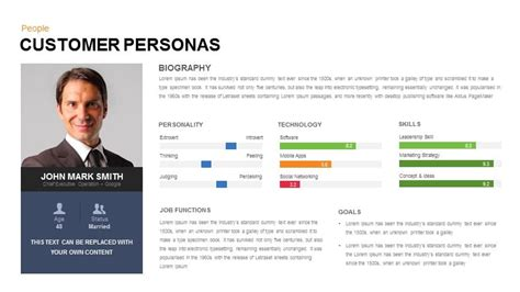 Customer Persona Powerpoint And Keynote Slide Slidebazaar Persona Template Powerpoint