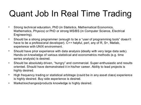 Quantitative Administrative Assistant Resume quantitative trader resume