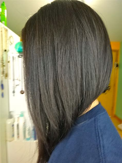 asymmetrical bob with a wave line across the front and one asymmetrical a line bob hair ideas pinterest bobs