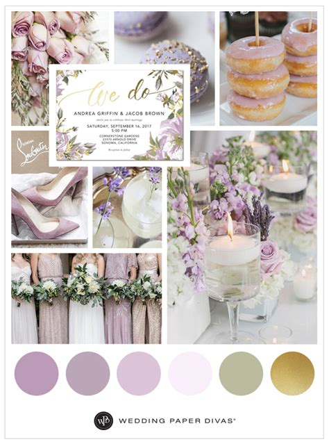 lilac and yellow wedding theme lilac and gold wedding color palette shutterfly