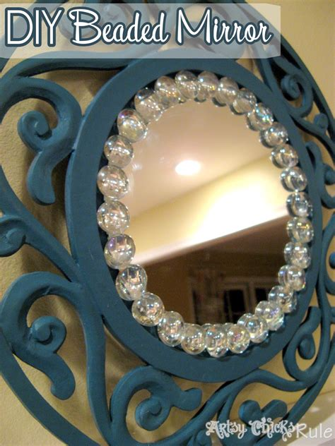 mirror craft for simple inexpensive easy diy beaded mirrors artsy