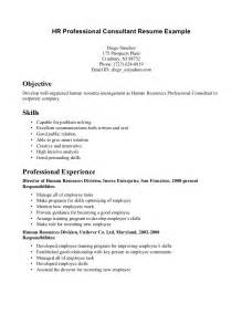Hr Consultant Sle Resume by Professional Resume Exle Getessay Biz