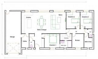 plan de 5 chambres plain pied gratuit