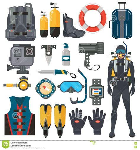 dive accessories scuba diving equipment accessories collection diver