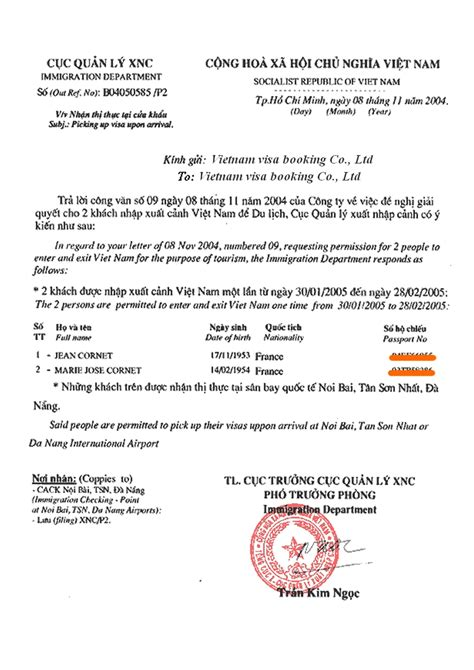 Invitation Letter For Visa On Arrival Visa Application Form For Vietnamtouristvisa Org