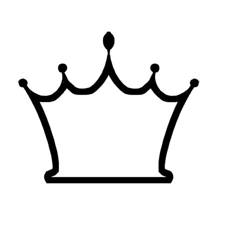 crown template black and white simple crown vector clipart best