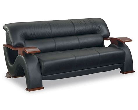 Eurodesign Modern Black Leather Sofa Gf2033sbl Black Leather Sofa Modern