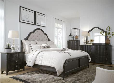 black panel bedroom set chesapeake antique black upholstered panel bedroom set