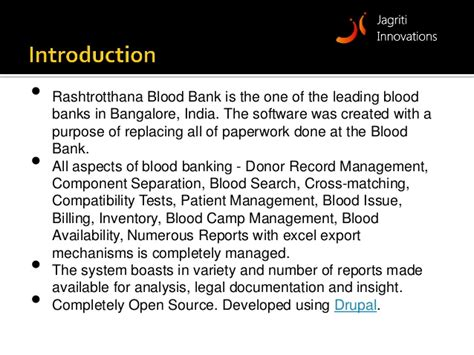 Bank Management blood bank management system ebloodbanking
