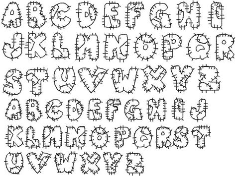 Patchwork Font - designs styles embroidery fonts patchwork