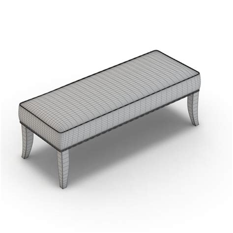 colette bench crate barrel colette 3d obj