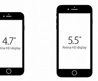 Image result for iPhone 7 Plus Size Comparison
