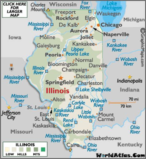 map of illinois cities