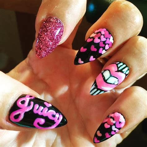 27 pink and black nail designs ideas design trends
